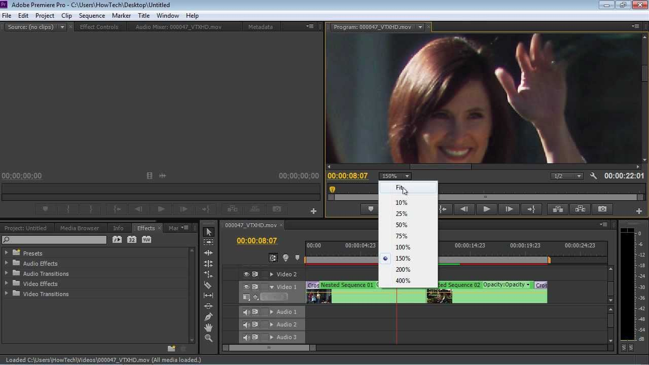 How to zoom in Adobe Premiere Pro