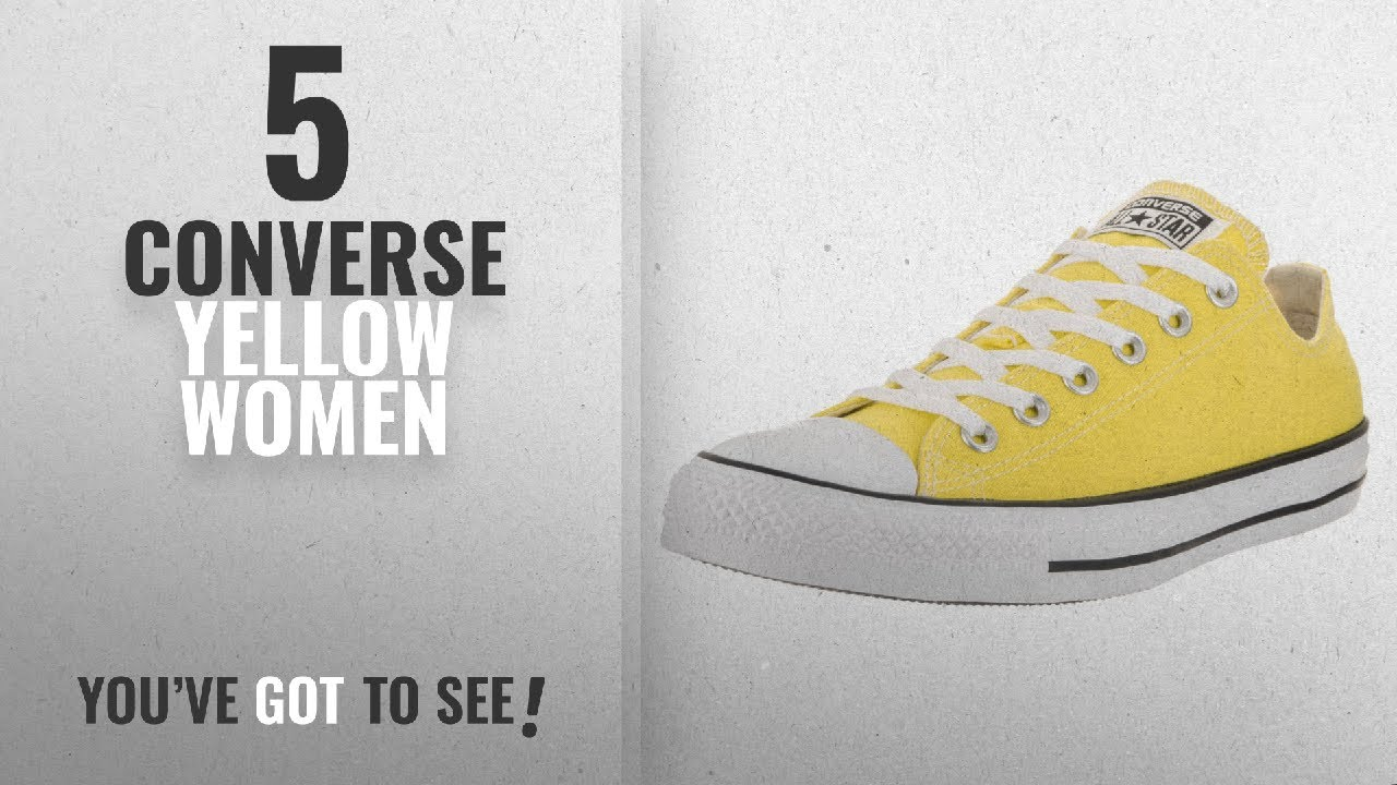 a1ab64cbdefc Top 5 Converse Yellow Women  2018   Converse Unisex Chuck Taylor All Star  Low Top Fresh Yellow