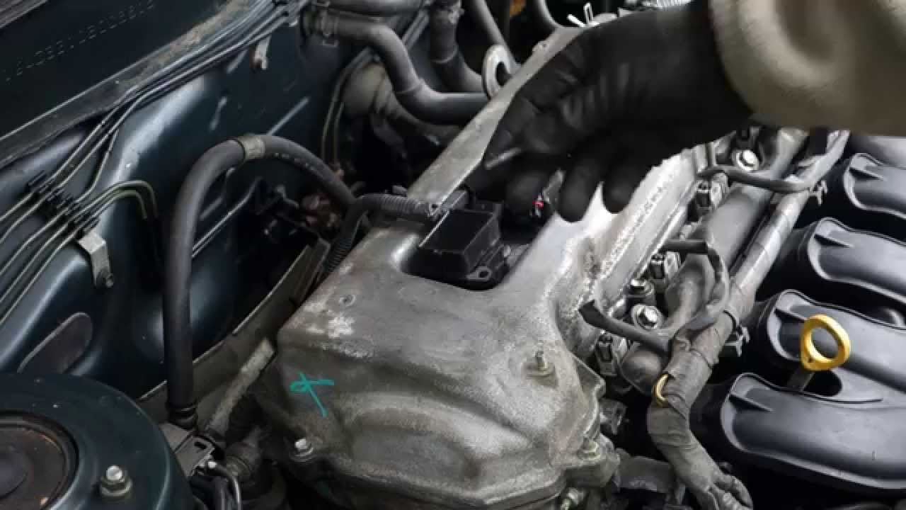 repair broken ignition coil easy  toyota corolla