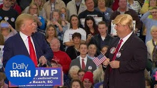 Donald Trump joined by lookalike on stage in Myrtle Beach - Daily Mail