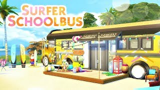 SURFER SCHOOLBUS | Sims 4 Speed Build