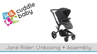 Jané Rider Stroller - Unboxing and Assembly(We asked Kelsey take a break from building the new CuddleBaby store to walk you through the unboxing and assembly of the fantastic Jané Rider stroller, ..., 2016-01-08T16:14:34.000Z)
