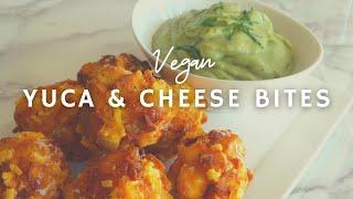 Crispy Yuca & Cheese Bites with Creamy Avocado Salsa Verde | Korenn Rachelle