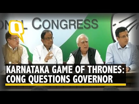 Karnataka Game Of Thrones: Congress Questions The Governor