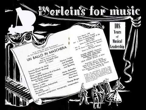 New Orleans Opera Association 1950 Un ballo in maschera (excerpt)