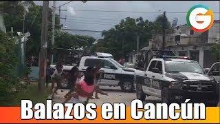 Disparos causan alarma y confusión en Cancún