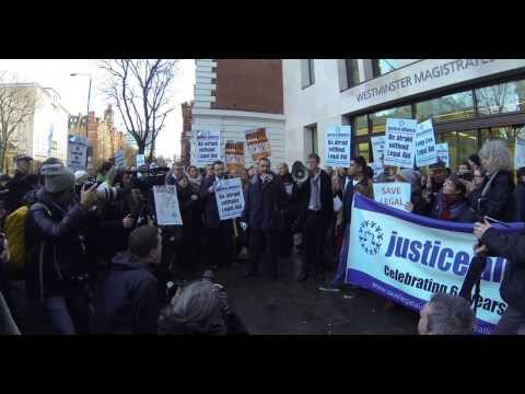Justice Alliance Demonstration Westminster Magistrates Court against Legal Aid Cuts 06/01