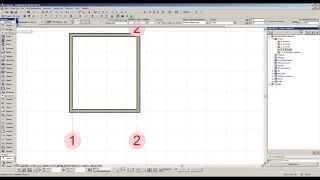 Инструмент строительные оси в ArchiCAD 16