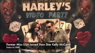 Former Miss USA and now porn star Kelly McCarty on Harleys XXX TV! Thumbnail