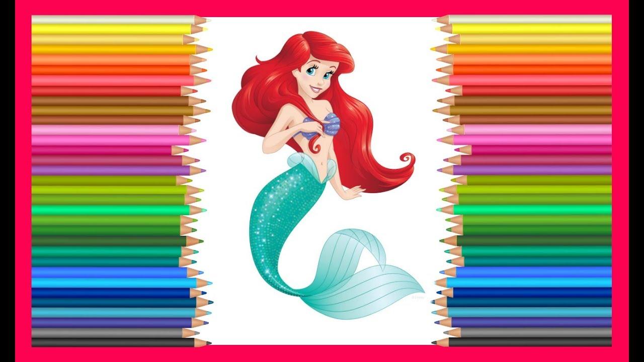 Принцесса Диснея русалочка Ариель Coloring Princess Disney ...