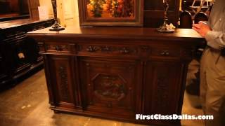Customized Antique Buffet With Television Panel