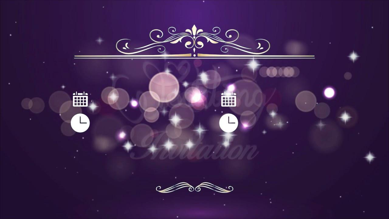 Traditional Wedding Invitation Video | Free Wedding invitation | Free & Blank Video 0223