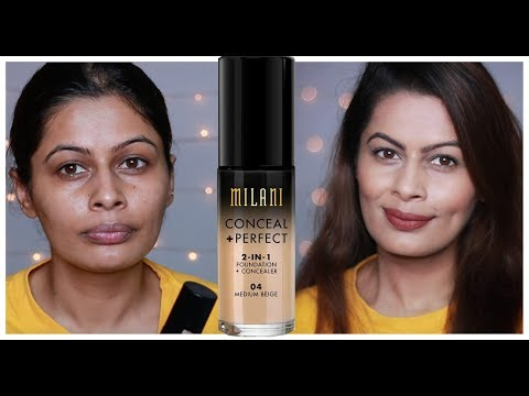 Milani Conceal + Perfect 2In1 Foundation + Concealer Review  Wear Test 8Hours  First impressions