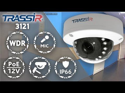 видео: Антивандальная купольная камера trassir tr-d3121ir1 2Мп