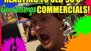 Reacting To Old 90's Goosebumps Commercials!