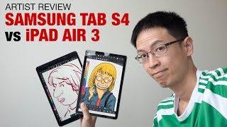 Gambar cover Samsung Tab S4 vs iPad Air 3 (Artist Comparison)