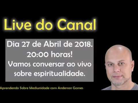 Agende-se!! Live no canal dia 27 de Abril de 2018 às 20:00 horas.