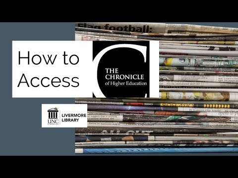 Accessing the Chronicle of Higher Education