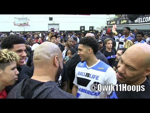 LiAngelo Ball Last Game Big Baller Brand +Lonzo, LaMelo & LaVar Ball @ Ballislife All American Game