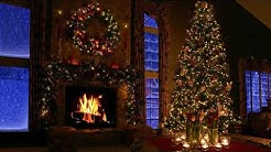 9 HOURS Christmas Fireplace Scene with Snow and Crackling Fire Sounds 2