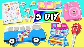 🥇𝟱 DIY SCHOOL SUPPLIES 👉 RETRO 🚎 to【 BACK TO SCHOOL 】🌈| aPasos Crafts DIY
