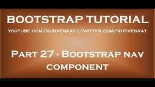 Bootstrap nav component