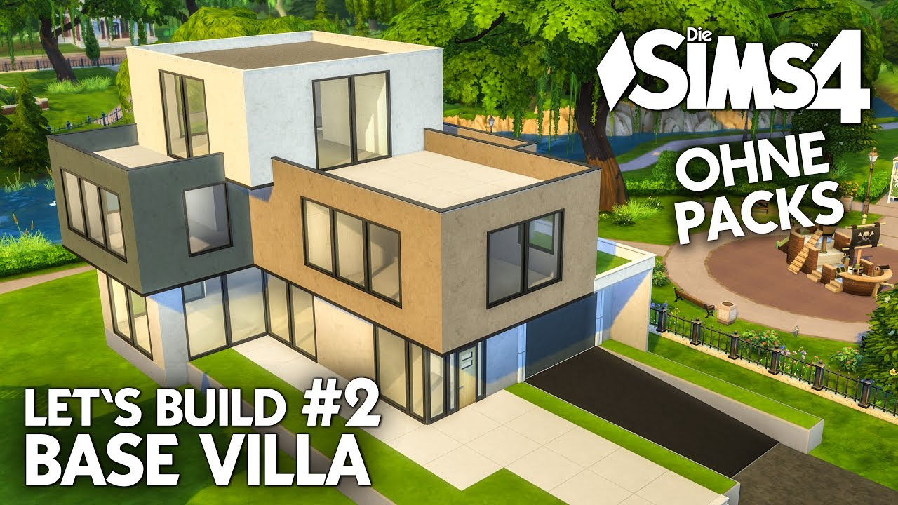 Die sims 4 haus bauen ohne packs base villa 2 k che for Modernes haus sims