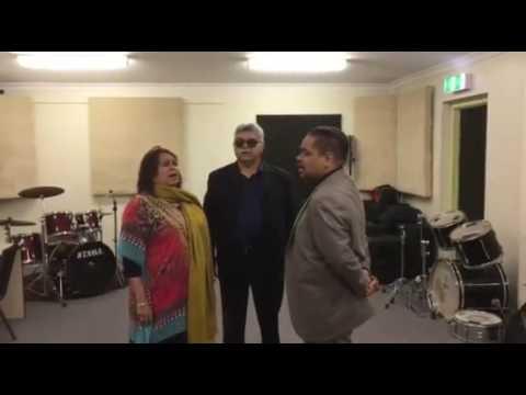 Brownley Gospel Singers at Asaph Studio, Kalgoorlie, singing