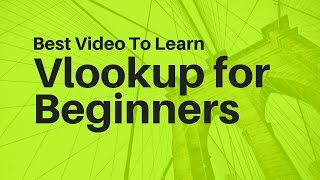 Repeat youtube video Learn Vlookup Formula For Beginners in Excel