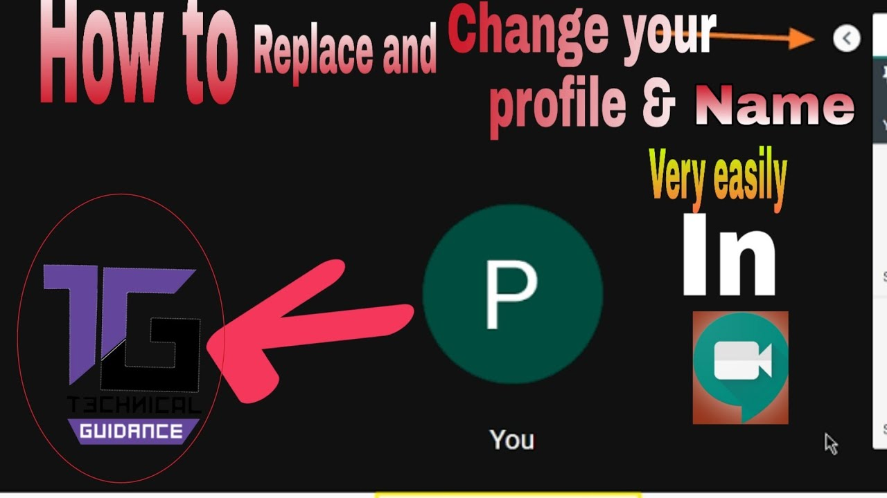 How to change your profile image and name in google meet ...