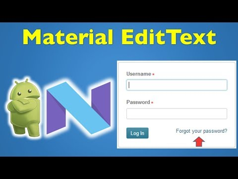 14 Android Material Design- Android EditText Username and