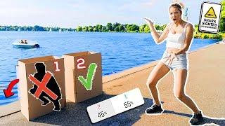 Schubse NICHT die FALSCHE BOX ins Wasser! Simon vs Enisa (ihr entscheidet)