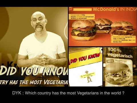 Did you know, Which country has the most Vegetarians in the world ? By Three P's Entertainment