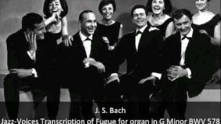 J. S. Bach - Fugue for organ in G Minor BWV 578 - Jazz-Voices Transcription