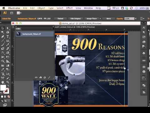 Adobe Illustrator CS6 Linked Files and Embedded Files
