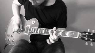 "Metallica ""Fade to black"" intro and outro solos cover. Gibson Les Paul Standard"