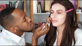 Idris Sultan does my makeup