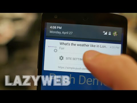 Push notifications for the web -- LazyWeb #3