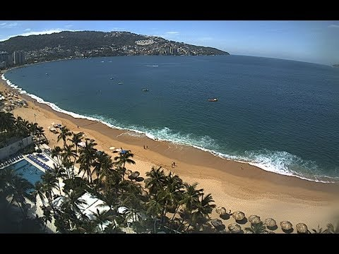 More coastal water appears to retreat | Acapulco beach