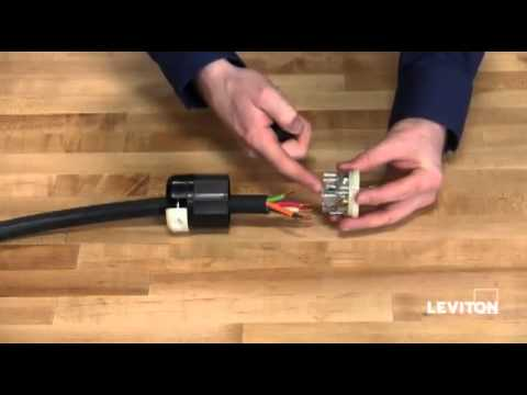 hqdefault how to install a leviton industrial locking wiring device youtube 30 amp 4 wire plug wiring diagram at panicattacktreatment.co