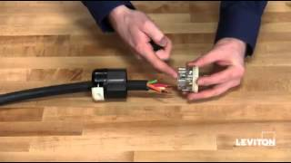 How to install a Leviton Industrial Locking Wiring Device - YouTube   Twist Lock Plug Wiring Diagram 4 Way      YouTube