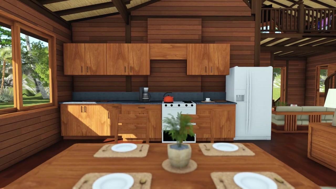 Tropical House Designs Teak Bali Hamakua Haven Model 3d Walk Through In Hi Res