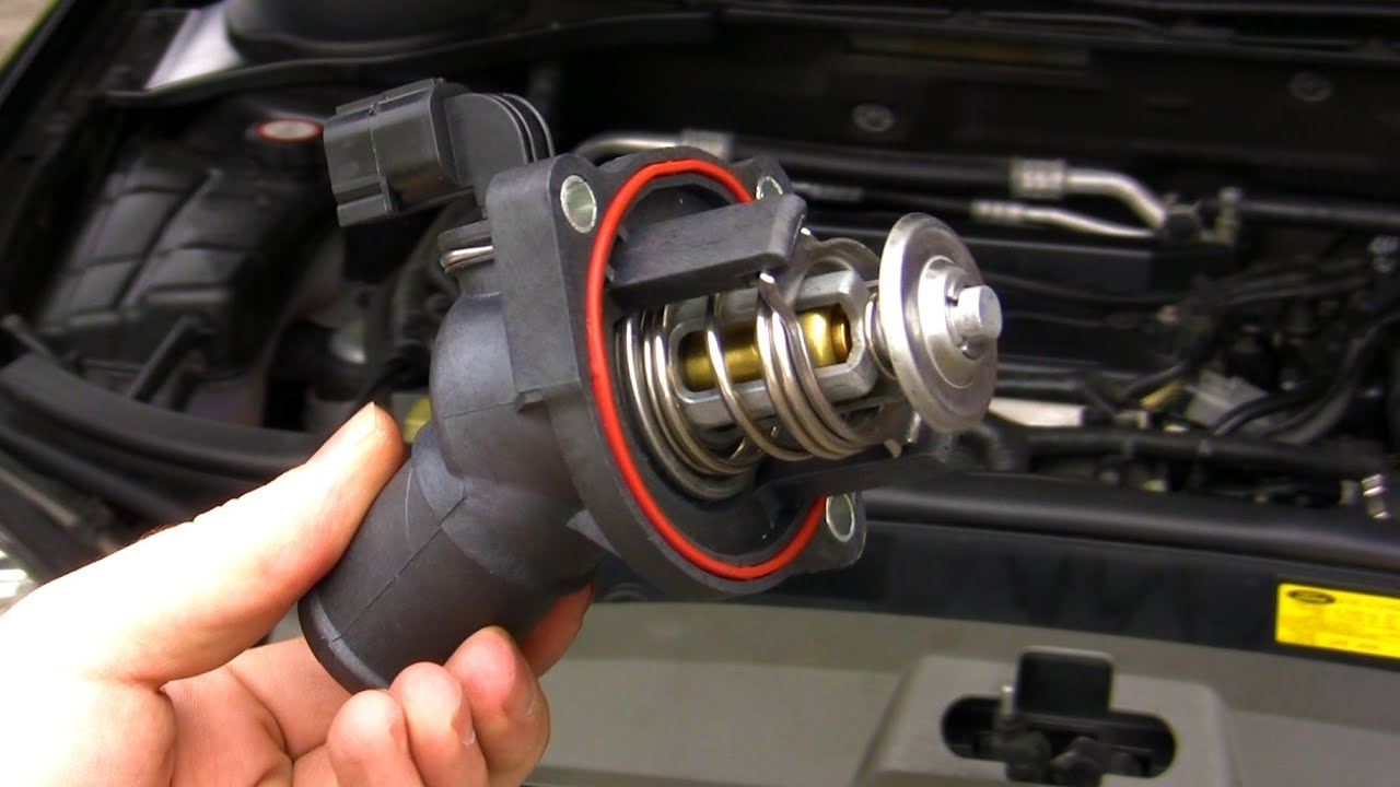 how to ford mondeo focus duratec he thermostat replace [ 1280 x 720 Pixel ]