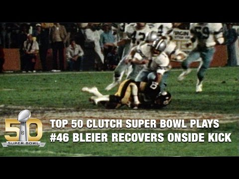 #46: Rocky Bleier recovers onside kick to clinch Steelers win | Top 50 Clutch Super Bowl Plays