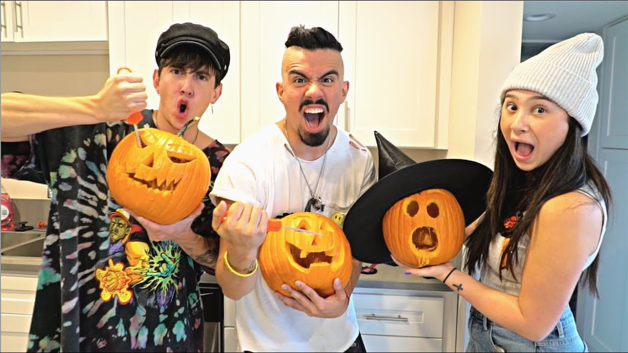 Insane Halloween Pumpkin Carving Challenge With A Twist