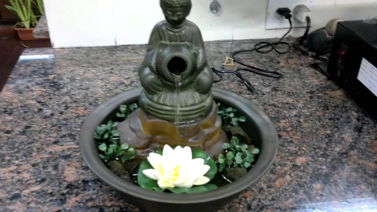 Fuente feng shui buda con vasija fuentes para todos youtube - Fuentes de pared ...