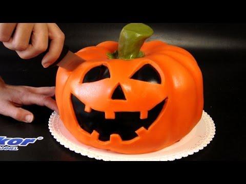 Download Halloween Pumpkin Cake - How To Tutorial / Halloweenský dort Pictures