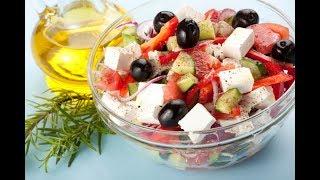Греческий Салат! Очень вкусный салат с сыром Фета.