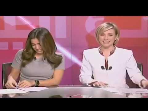 Lebanese TV Presenters Laugh On The Job