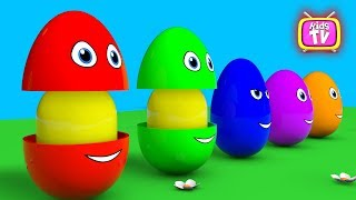Learn colors Learn shapes Surprise eggs - 3D Cartoons for children Video for kids
